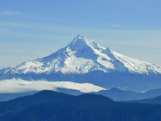 View of Mount Hood (11,243') from Sherrard Point (4,056')